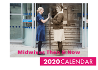 Picture of Midwives Then & Now Large Stapled Booklet Calendar