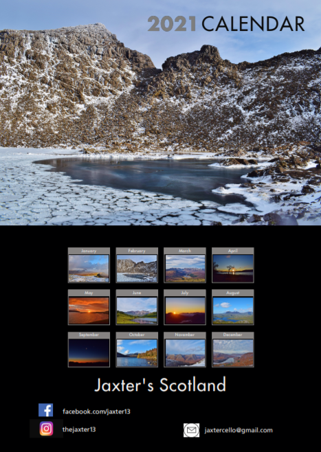 Picture of Jaxter's Scotland Calendar