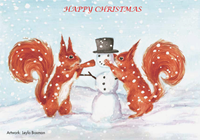 Picture of Squirrel Leyla Baxman Xmas Cards