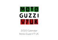 Picture of Motor Guzzi V7UK Ladies Calendar