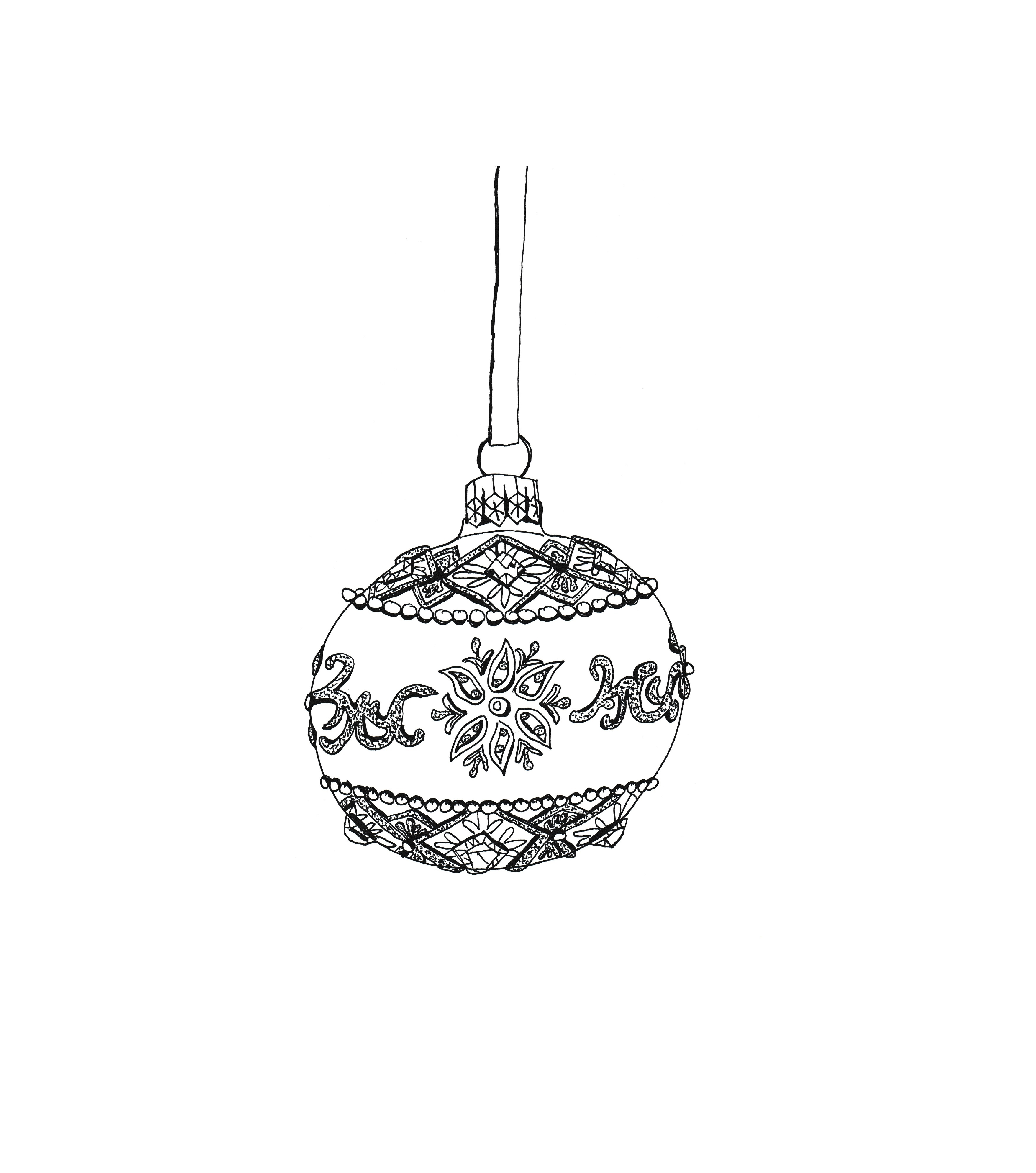 Picture of Bauble Christmas Cards