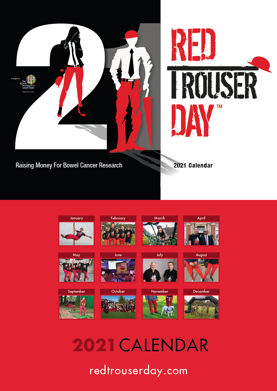 Picture of Red Trouser Day Calendar