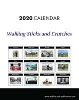 Picture of A4 Walking Sticks and Crutches Cartoon Calendar